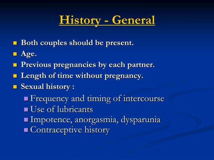 History - General