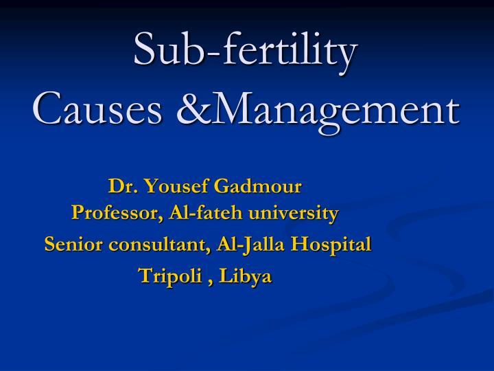 Sub-fertility