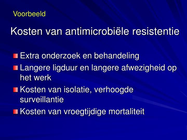 Kosten van antimicrobi