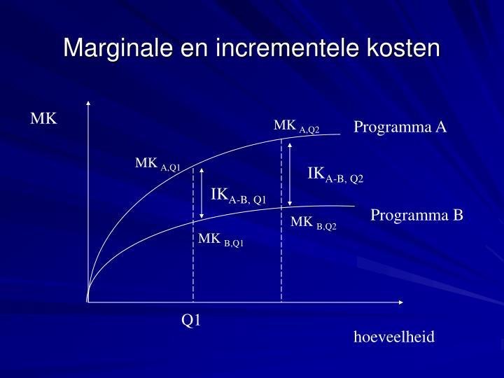 Marginale en incrementele kosten