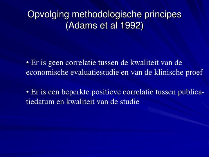 Opvolging methodologische principes