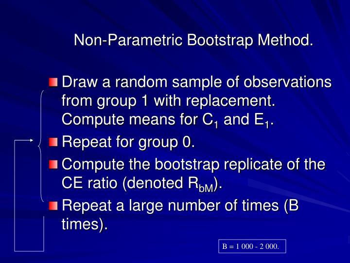 Non-Parametric Bootstrap Method.