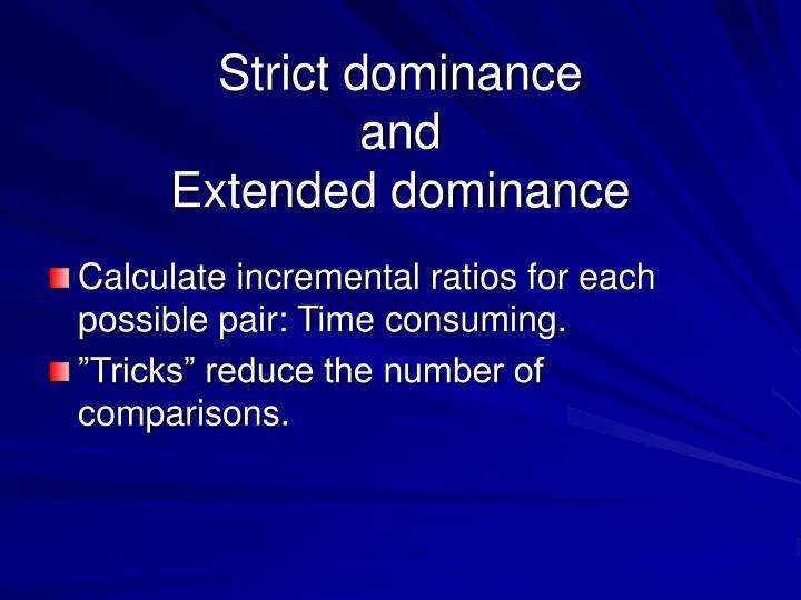 Strict dominance
