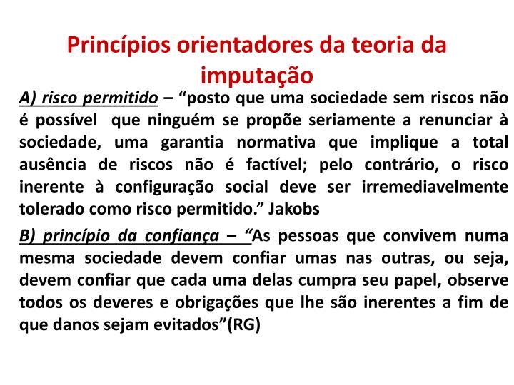 Princípios orientadores da teoria da imputação