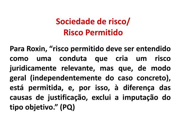 Sociedade de risco/