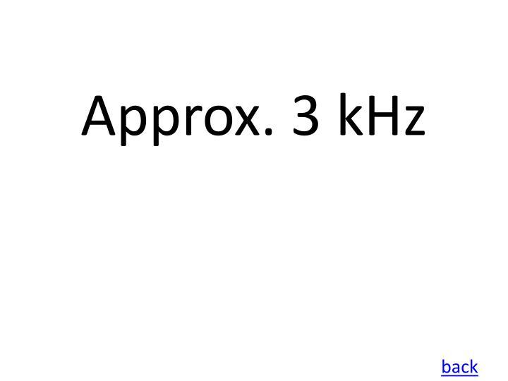Approx. 3 kHz