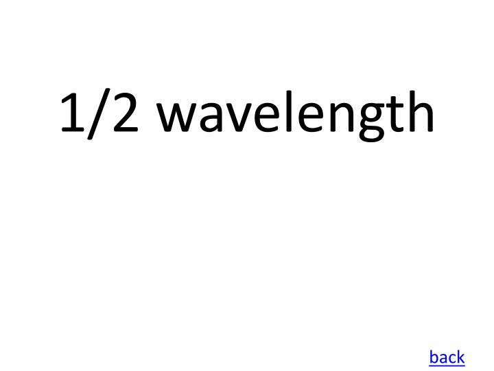 1/2 wavelength