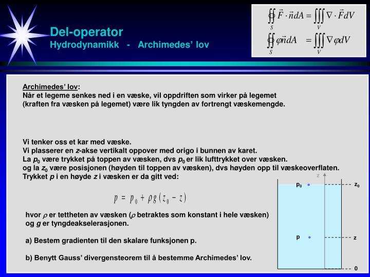Del-operator