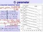 c parameter