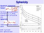 sphericity