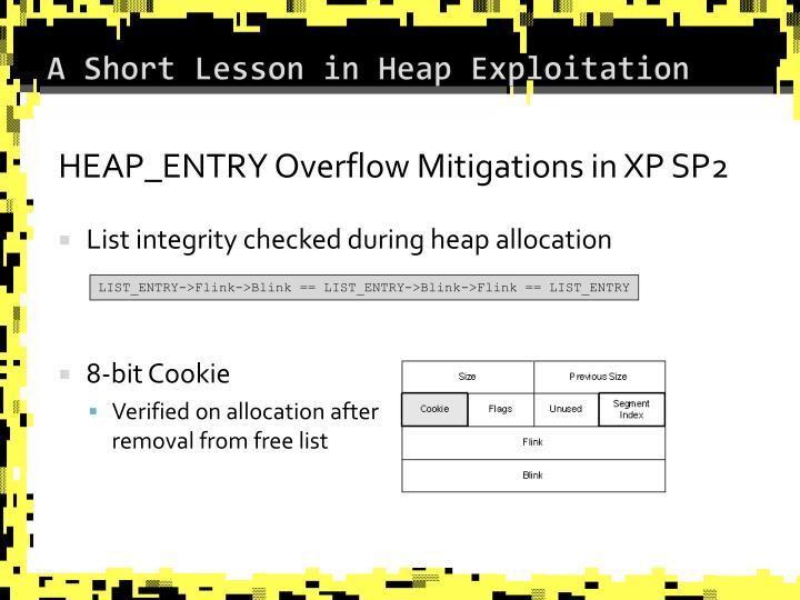 A Short Lesson in Heap Exploitation