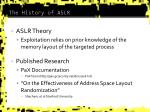 the history of aslr