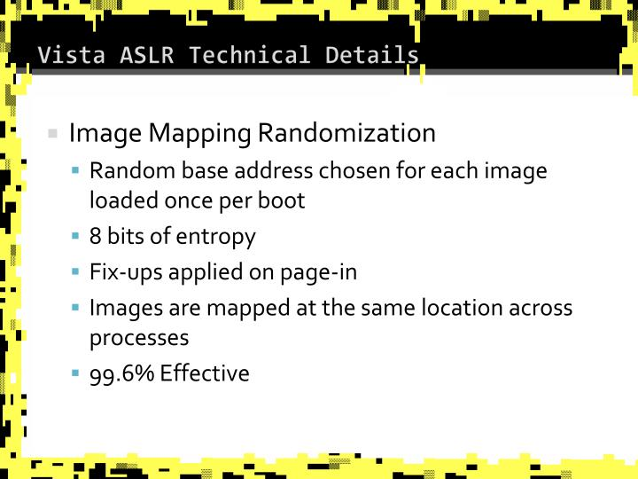 Vista ASLR Technical Details