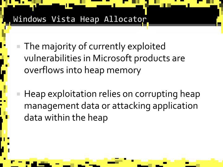 Windows Vista Heap Allocator