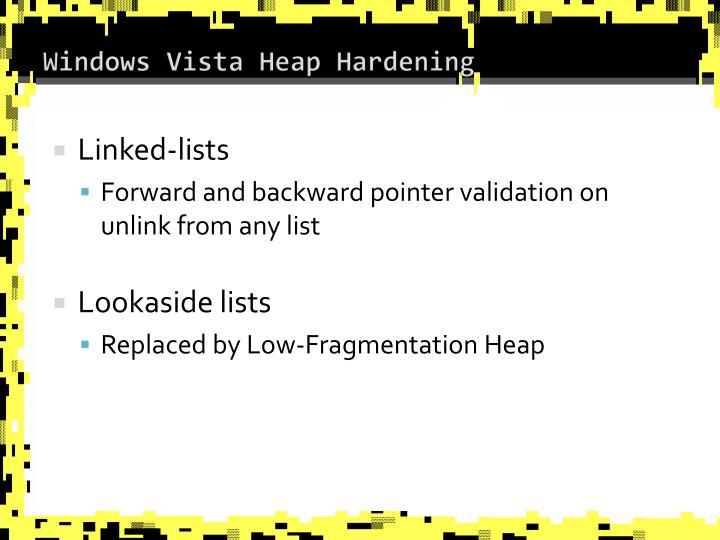 Windows Vista Heap Hardening