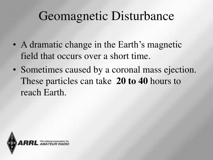 A dramatic change in the Earth's magnetic field that occurs over a short time.