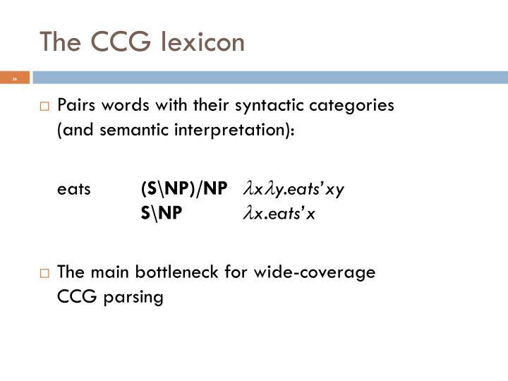The CCG lexicon