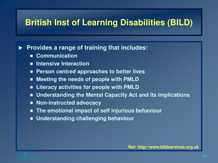 British Inst of Learning Disabilities (BILD)