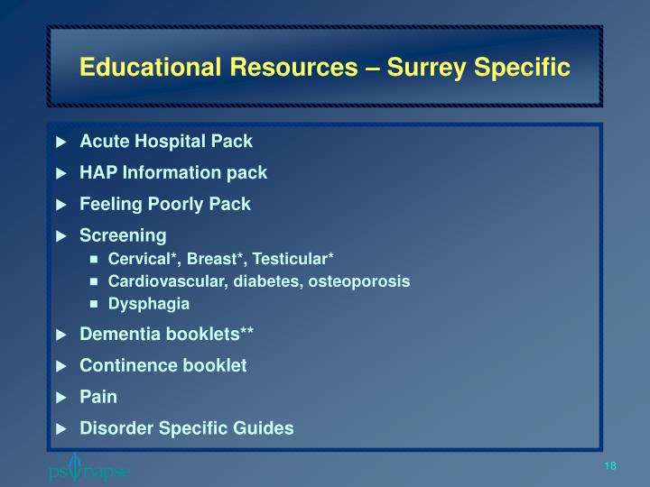 Educational Resources – Surrey Specific