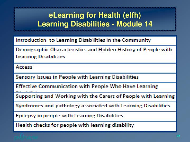 eLearning for Health (elfh)