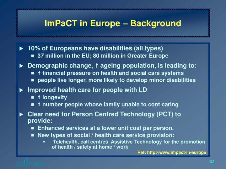 ImPaCT in Europe – Background