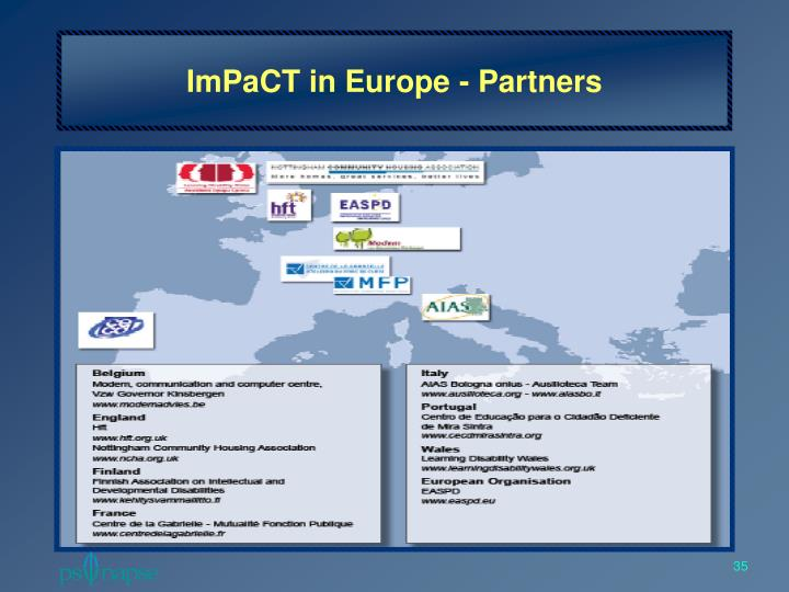ImPaCT in Europe - Partners