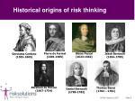 historical origins of risk thinking