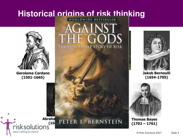 Historical origins of risk thinking