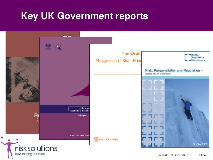 Key UK Government reports
