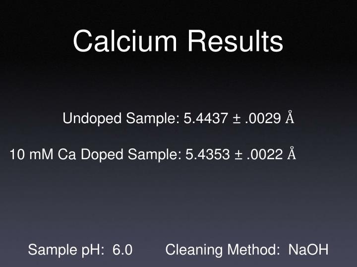 Calcium Results