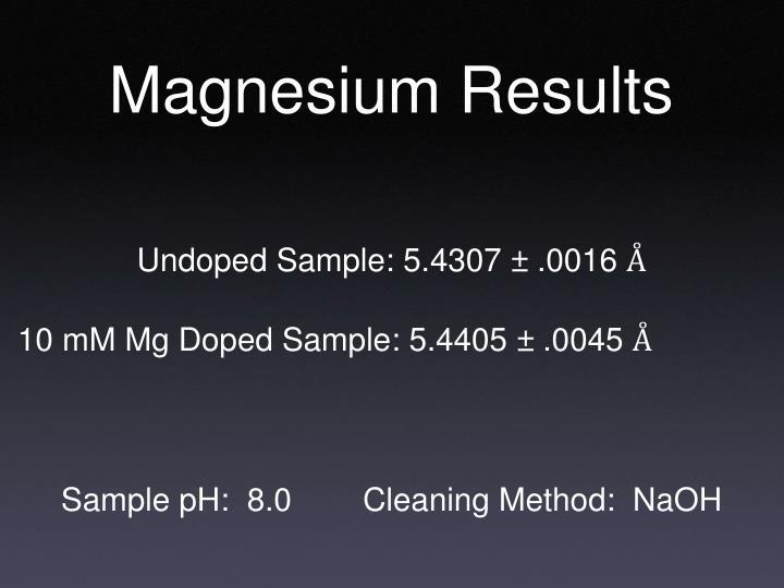 Magnesium Results