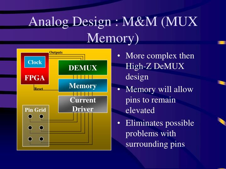 Analog Design : M&M (MUX Memory)