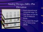 analog design me pin elevation