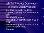 bits product overview a tactile display board
