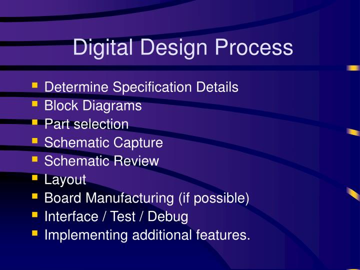 Digital Design Process