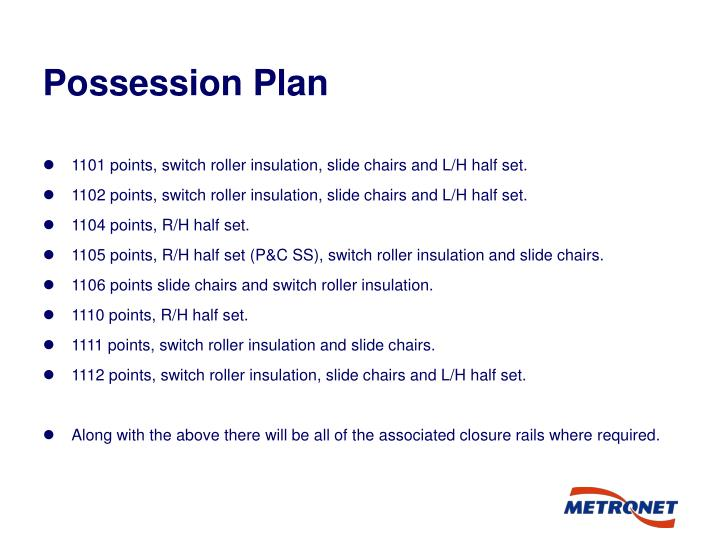 Possession Plan