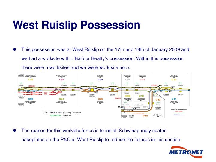 West Ruislip Possession