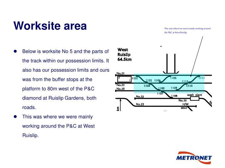 Worksite area