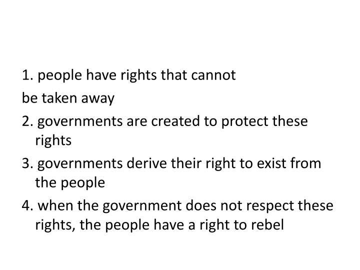 1. people have rights that cannot
