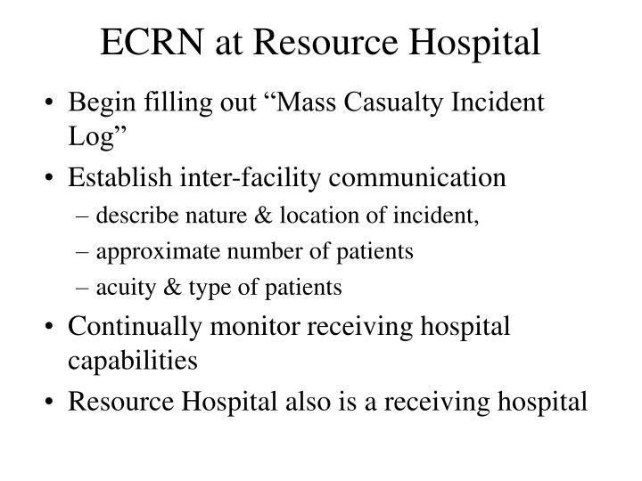 ECRN at Resource Hospital