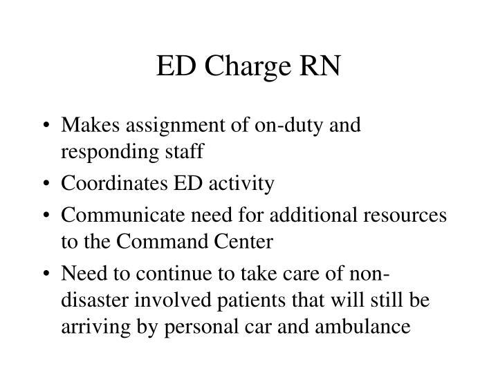 ED Charge RN