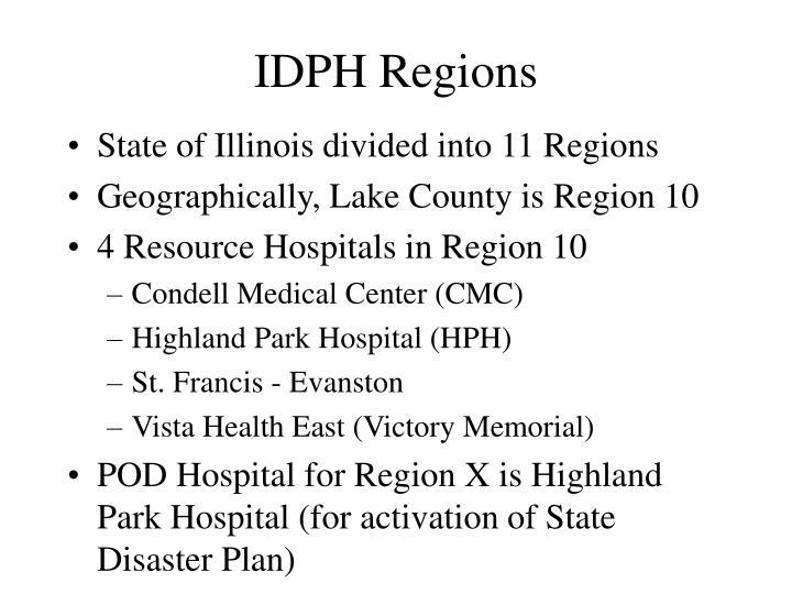 IDPH Regions