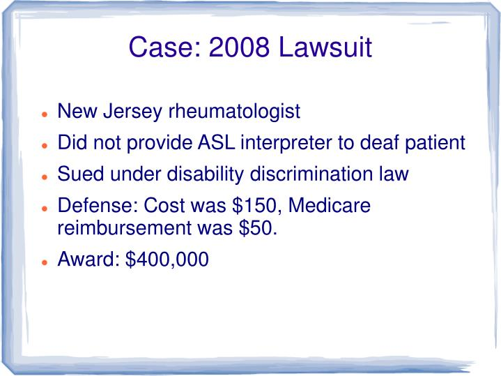 Case: 2008 Lawsuit