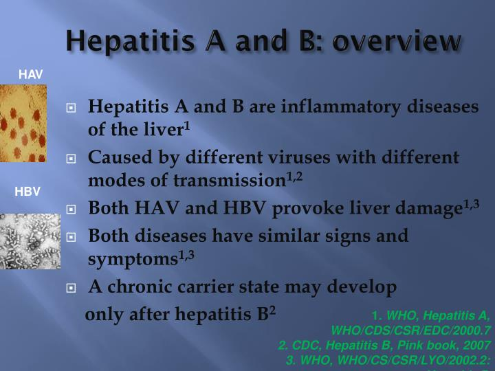 Hepatitis A and B: overview