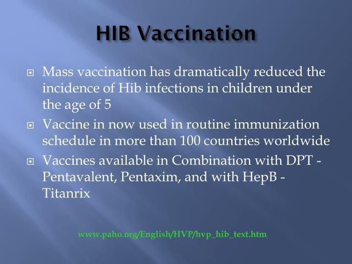 HIB Vaccination