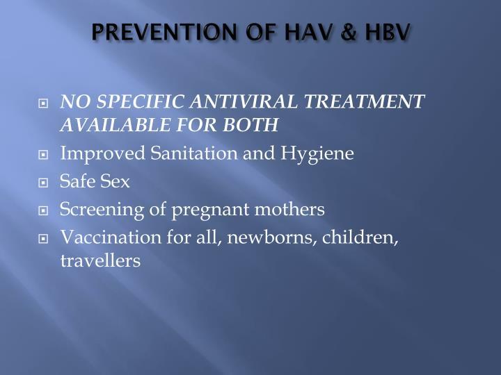 PREVENTION OF HAV & HBV