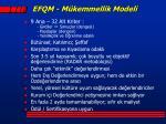 efqm m kemmellik modeli1