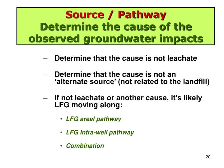 Source / Pathway