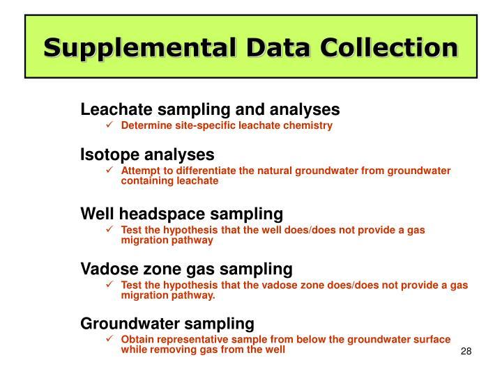 Supplemental Data Collection