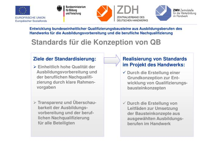 Standards für die Konzeption von QB